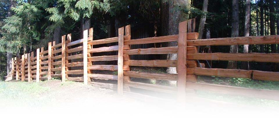 Double Post Cedar Split Fence