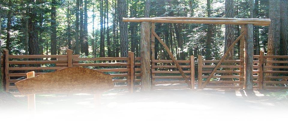 Split Cedar Gates