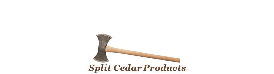 Split Cedar Products Vancouver Island British Columbia